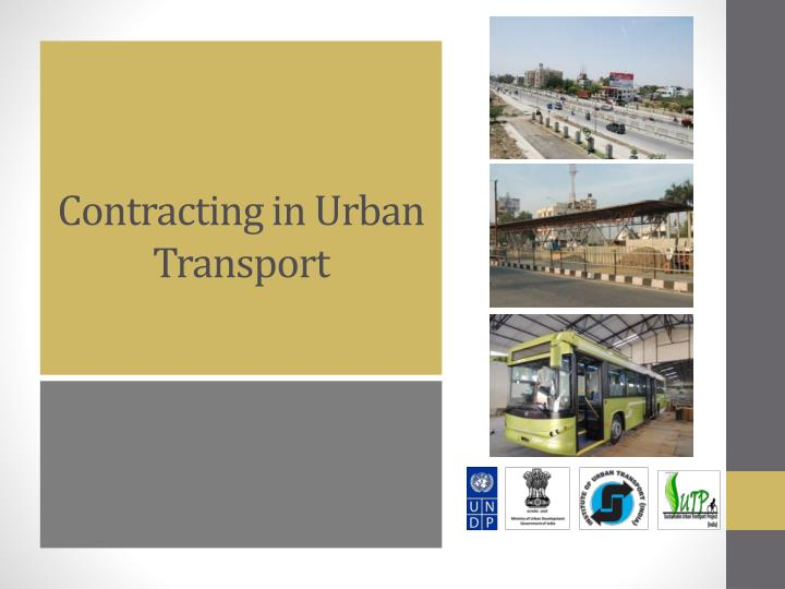 contracting in urban transport n.