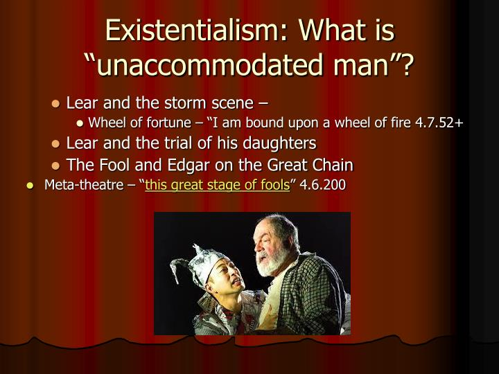 the fool in the play king lear english literature essay English literature english language  king lear: advanced york notes  when he first appears in the play the fool is extremely critical of lear:.