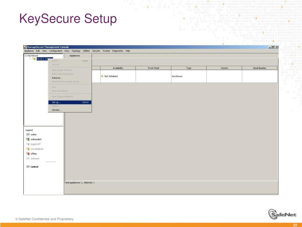 PPT - KeySecure Appliance – Initial Setup PowerPoint