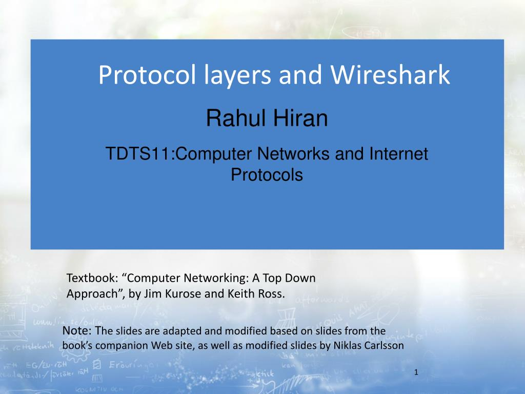 PPT - Protocol layers and Wireshark PowerPoint Presentation - ID:2061018