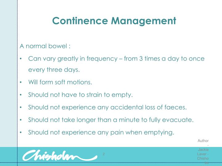 Continence management1