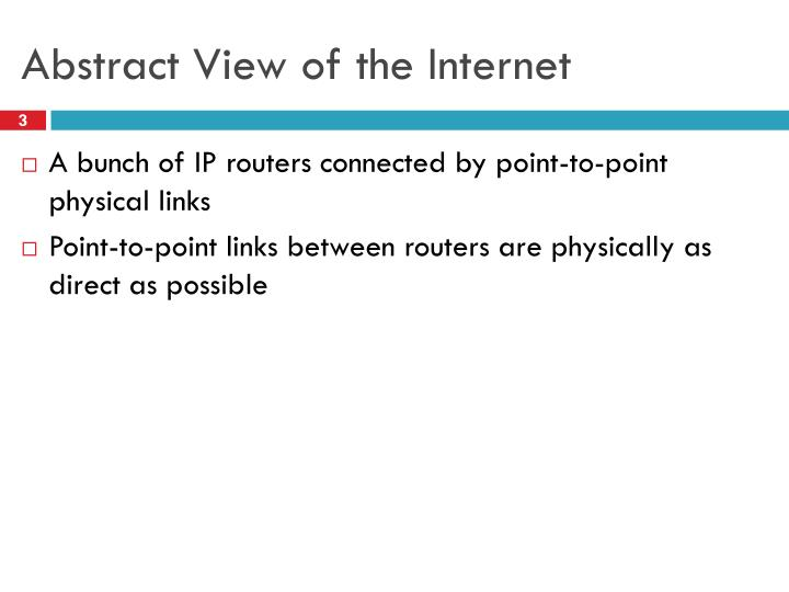 Abstract view of the internet