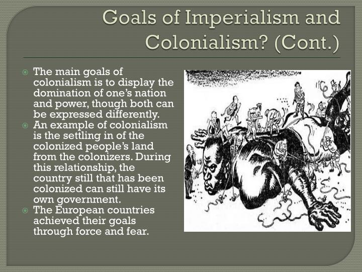 colonialism imperialism