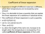 coefficient of linear expansion