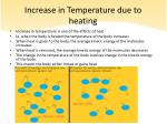 increase in temperature due to heating