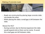 making of concrete roads