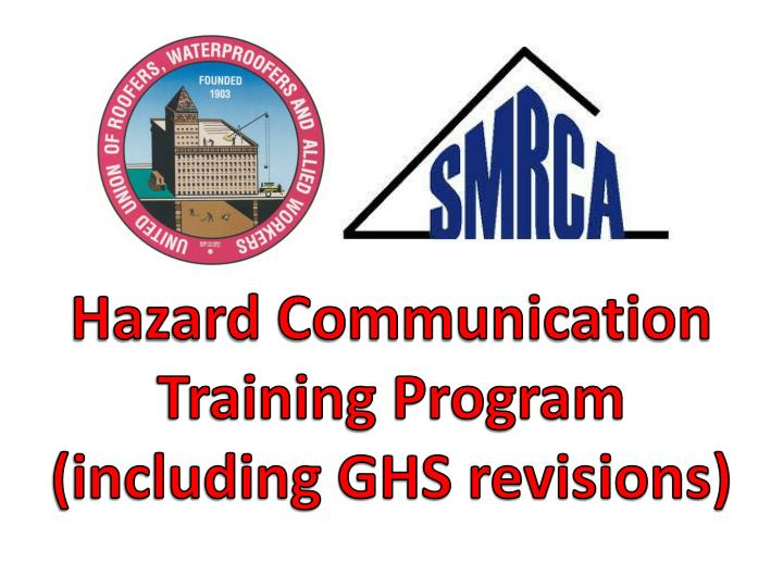 Ppt Hazard Communication Training Program Including Ghs