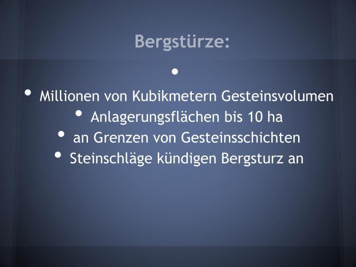 Bergstürze:
