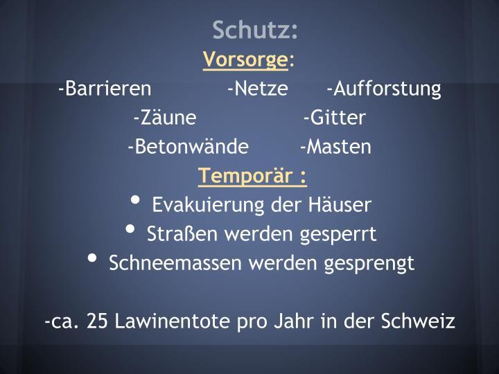 Schutz: