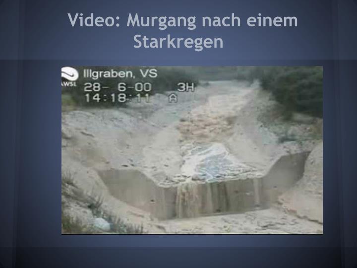 Video: Murgang nach einem Starkregen