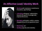 an affective load identity work