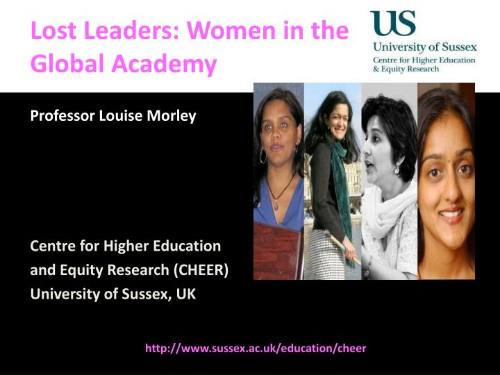 lost leaders women in the global academy