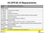 44 cfr 65 10 requirements
