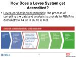 how does a levee system get accredited