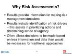 why risk assessments
