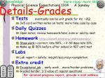 details grades
