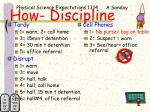how discipline