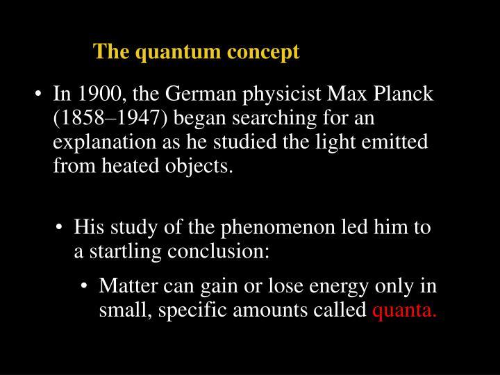 The quantum concept