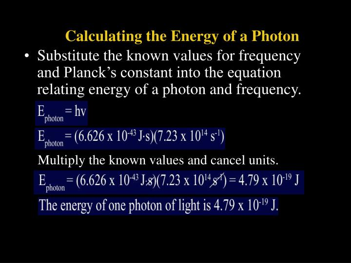 Calculating the Energy of a Photon
