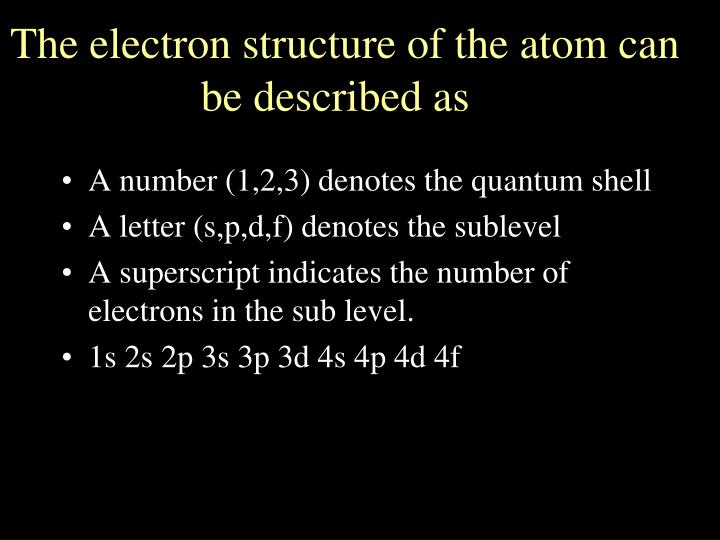 A number (1,2,3) denotes the quantum shell