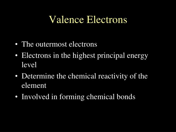 The outermost electrons