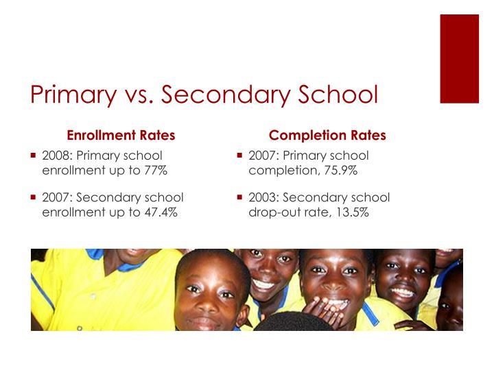 Primary vs. Secondary School