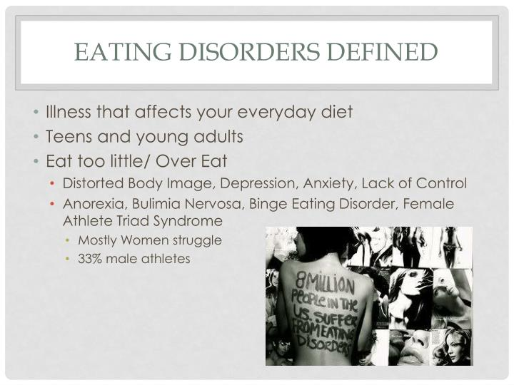 Eating disorders defined
