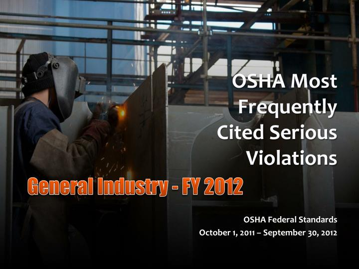osha most frequently cited serious violations n.