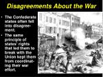 disagreements about the war4