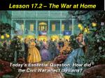 lesson 17 2 the war at home