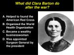 what did clara barton do after the war