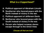 what is a copperhead1