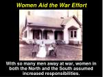 women aid the war effort