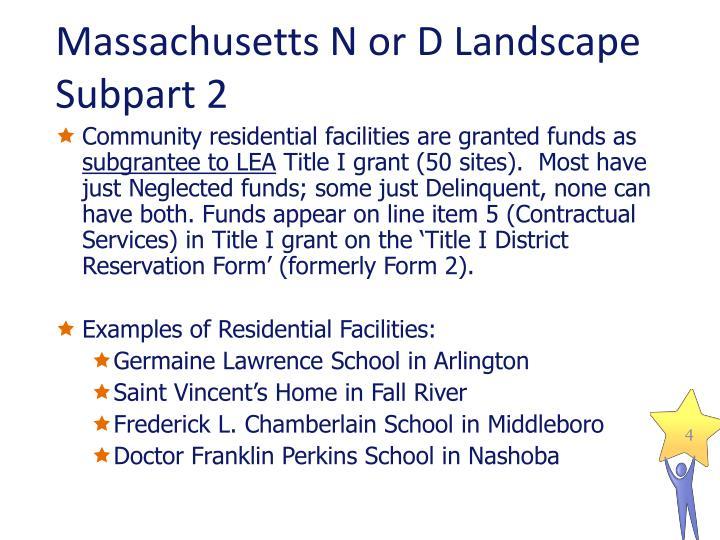 Massachusetts N or D Landscape