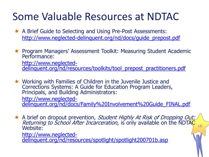 Some Valuable Resources at NDTAC