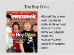 the boy crisis