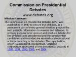 commission on presidential debates www debates org