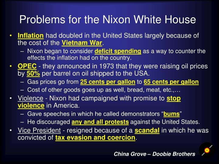 Problems for the Nixon White House