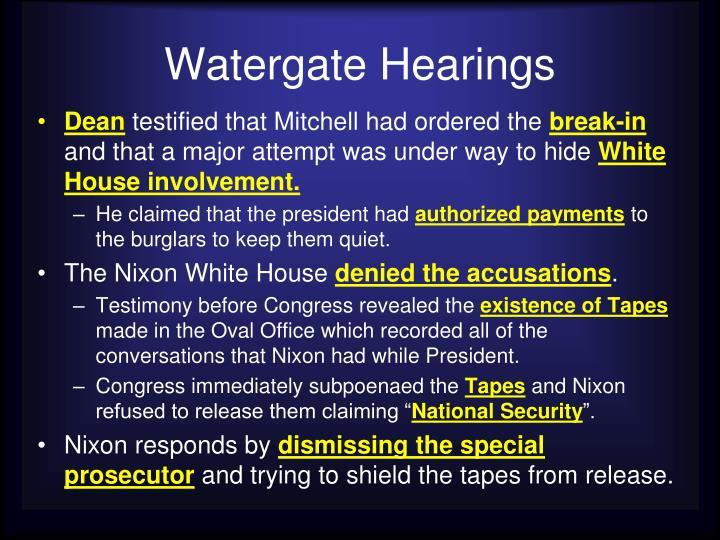 Watergate Hearings