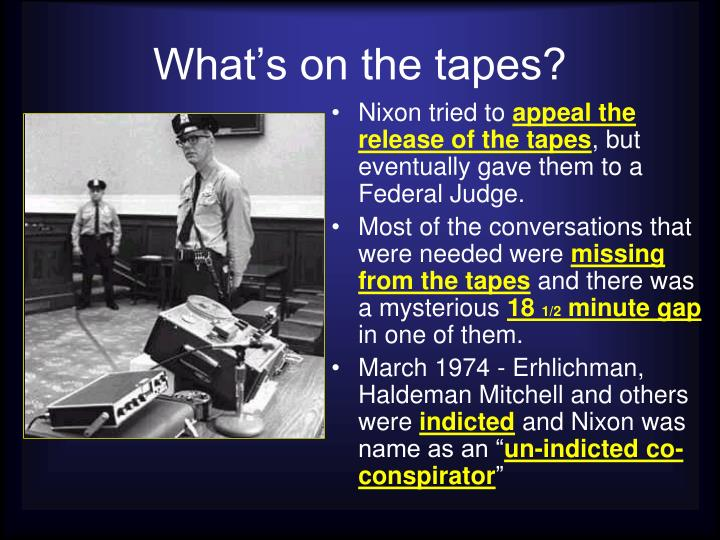 What's on the tapes?
