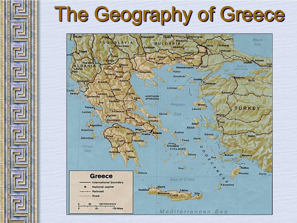 Picture of: Ppt The Geography Of Greece Powerpoint Presentation Free Download Id 2061990