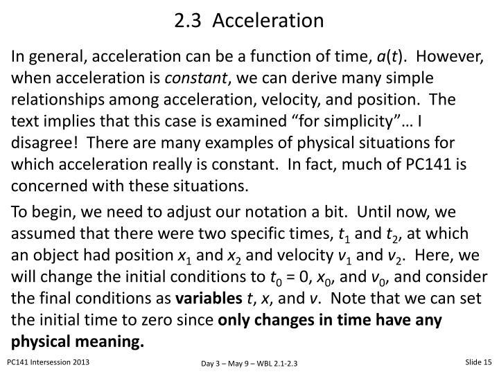 2.3  Acceleration