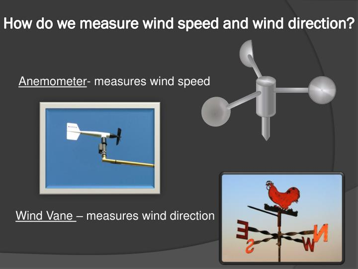 How do we measure wind speed and wind direction?