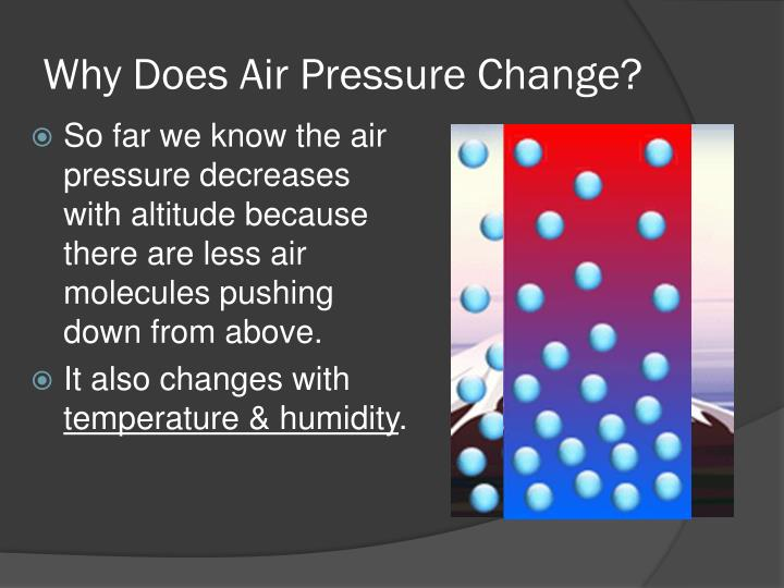 Why Does Air Pressure Change?