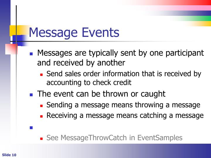 Message Events