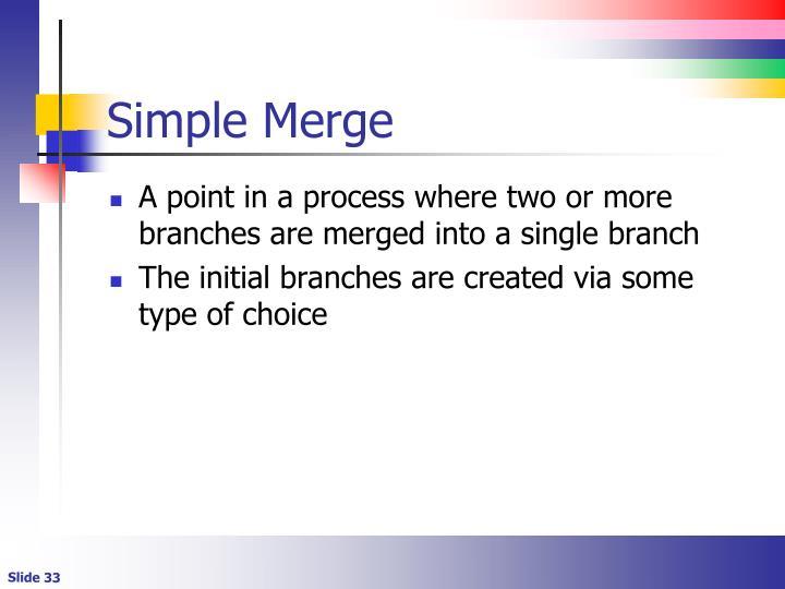Simple Merge