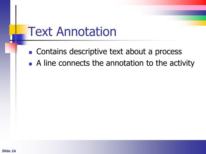 Text Annotation
