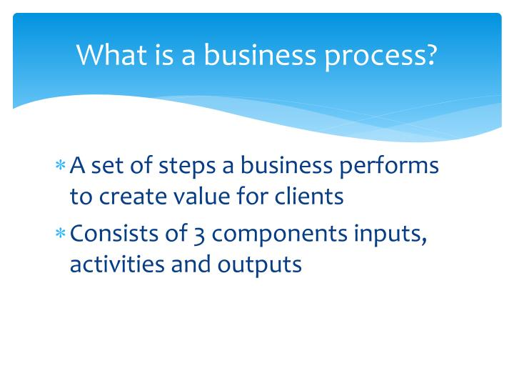 What is a business process?