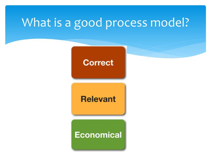 What is a good process model?