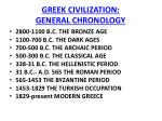 greek civilization general chronology